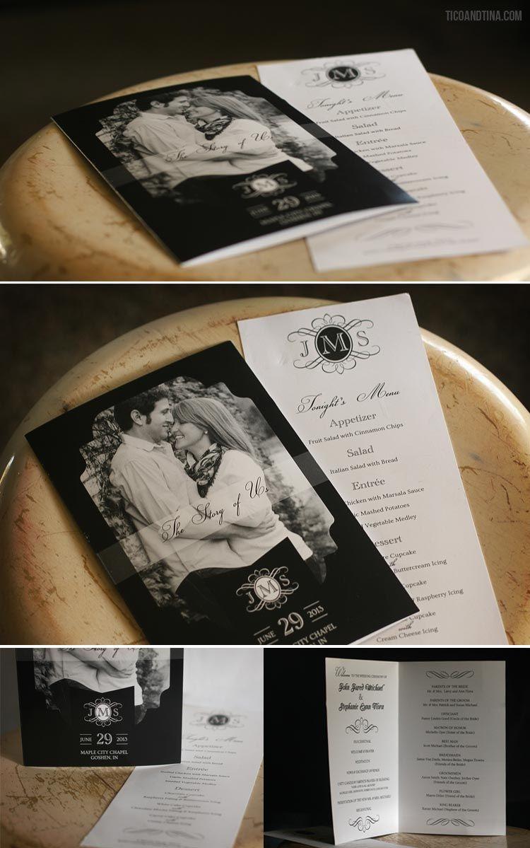 free wedding program cover template my dream wedding pinterest