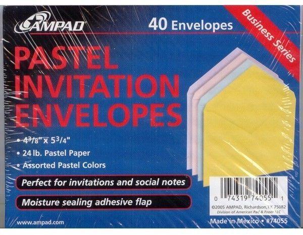 A2 Pastel Or White Ampad Invitation Envelopes 4 3 8 X5 3 4 1 10 20 40 50 100 Pk Invitation Envelopes Invitations Shabby Chic Invitations