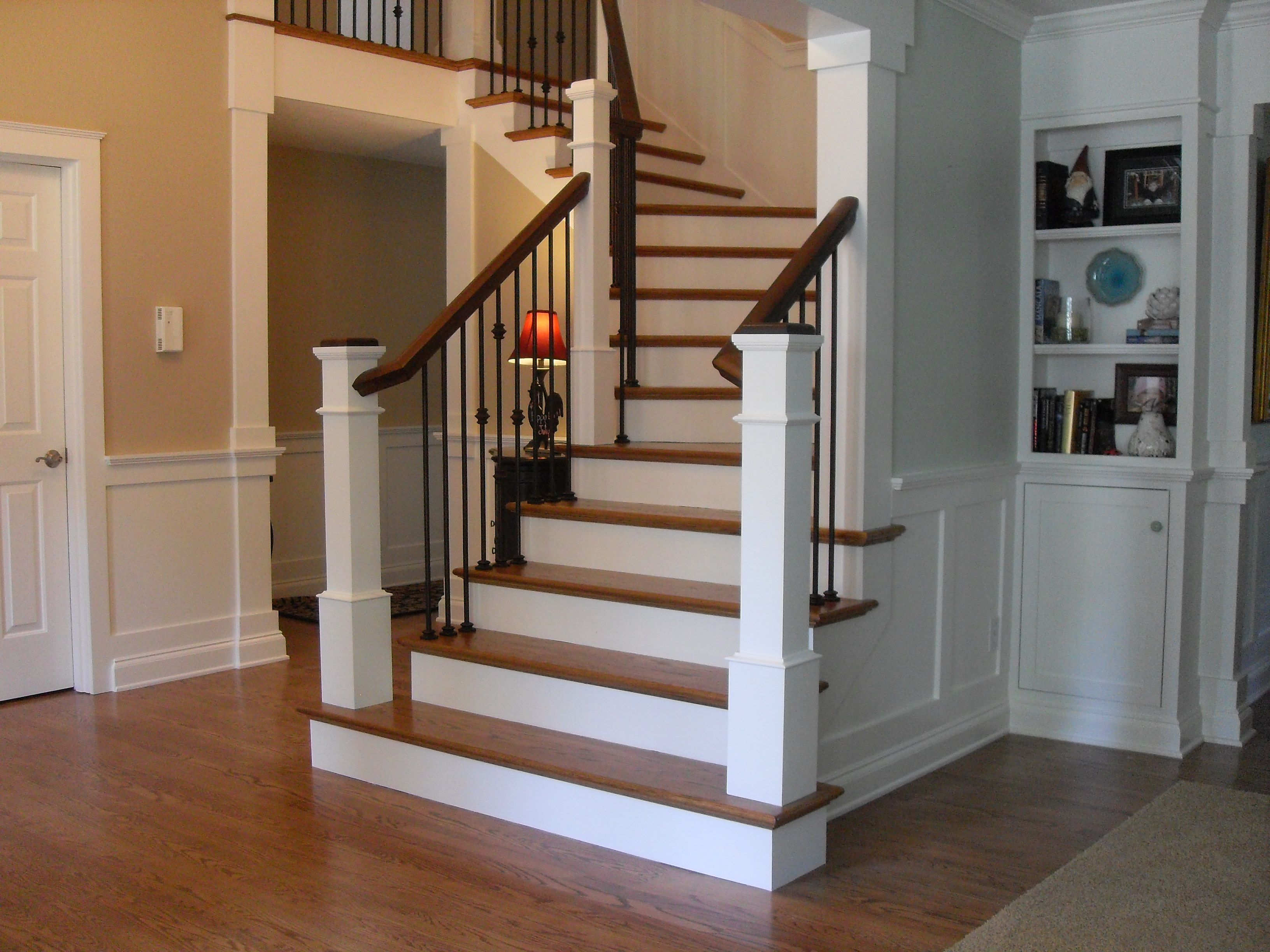 box newel post   Google Search   Traditional staircase ...