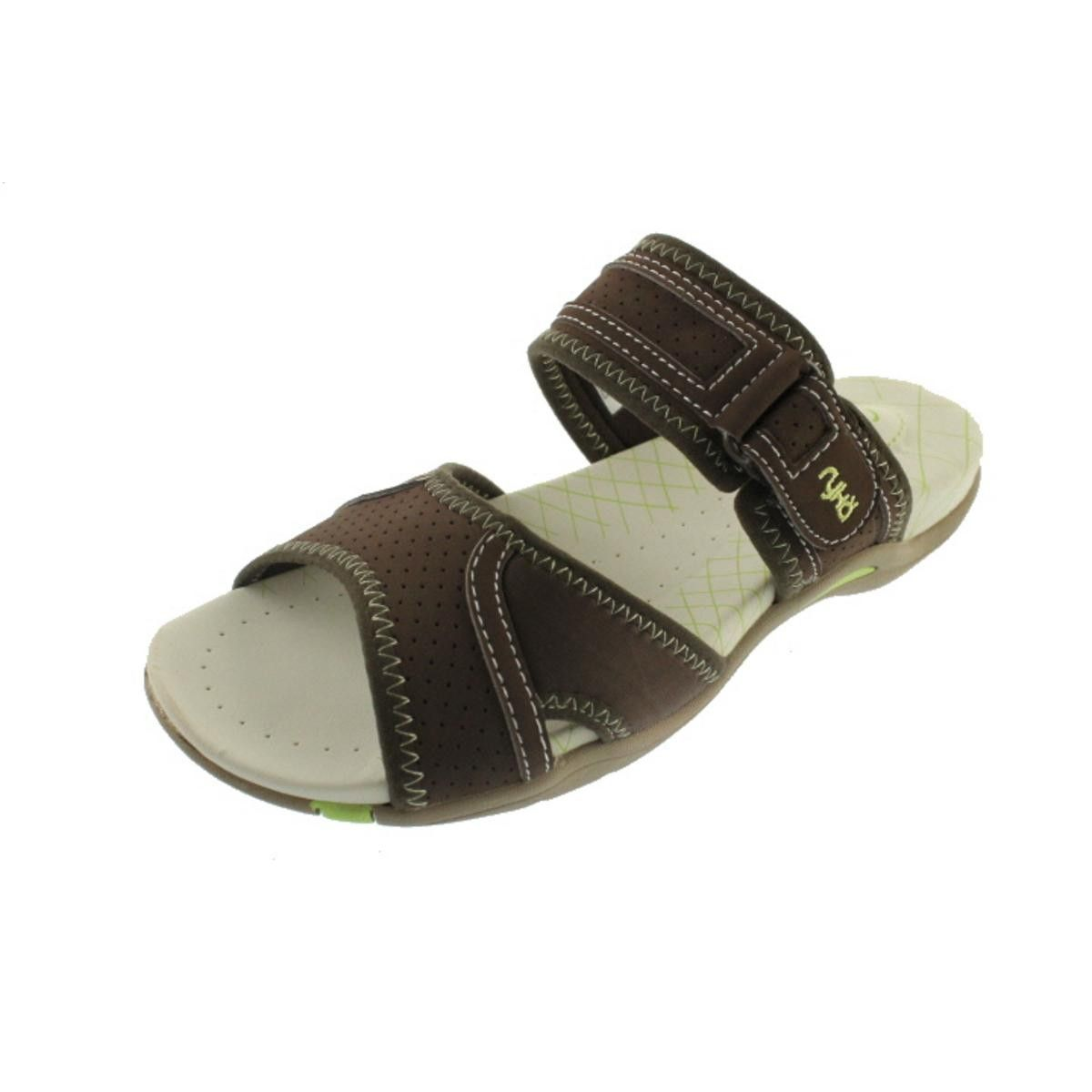 Ryka sandals shoes - Ryka 9592 Womens Essence Brown Casual Slide Sandals Shoes Medium B M Bhfo In Clothing Shoes Accessories Women S Shoes Sandals Flip Flops