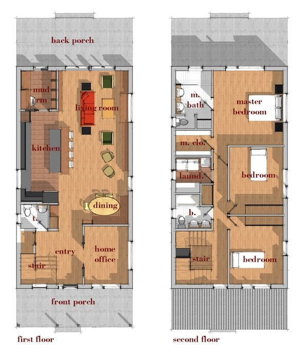 Catalog Modern House Plans By Gregory La Vardera Architect Narrow House Plans Contemporary House Plans Narrow Lot House Plans
