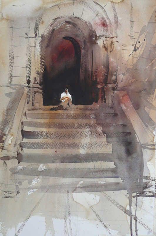 Alvaro Castagnet 1954 Impressionist Watercolor Painter