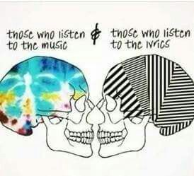 I do both ❤ it's the only way to really understand it fully and get the goose bumbs that you get a song is really fucking amazing, it's getting the full experience ❤