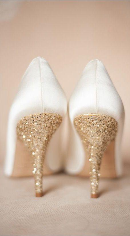 High Quality Gold Glitter Wedding Heels | Kate Spade