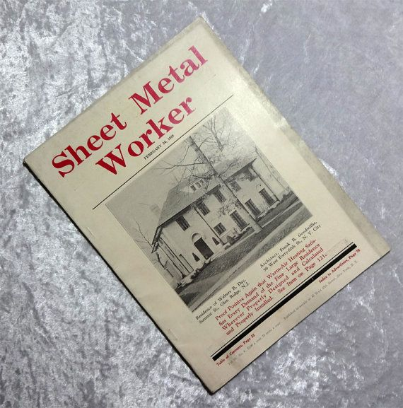 1928 Sheet Metal Worker Magazine, Technical, Architectural, Heating,  Machinery, Construction, Antique Vintage Publication, 2 24