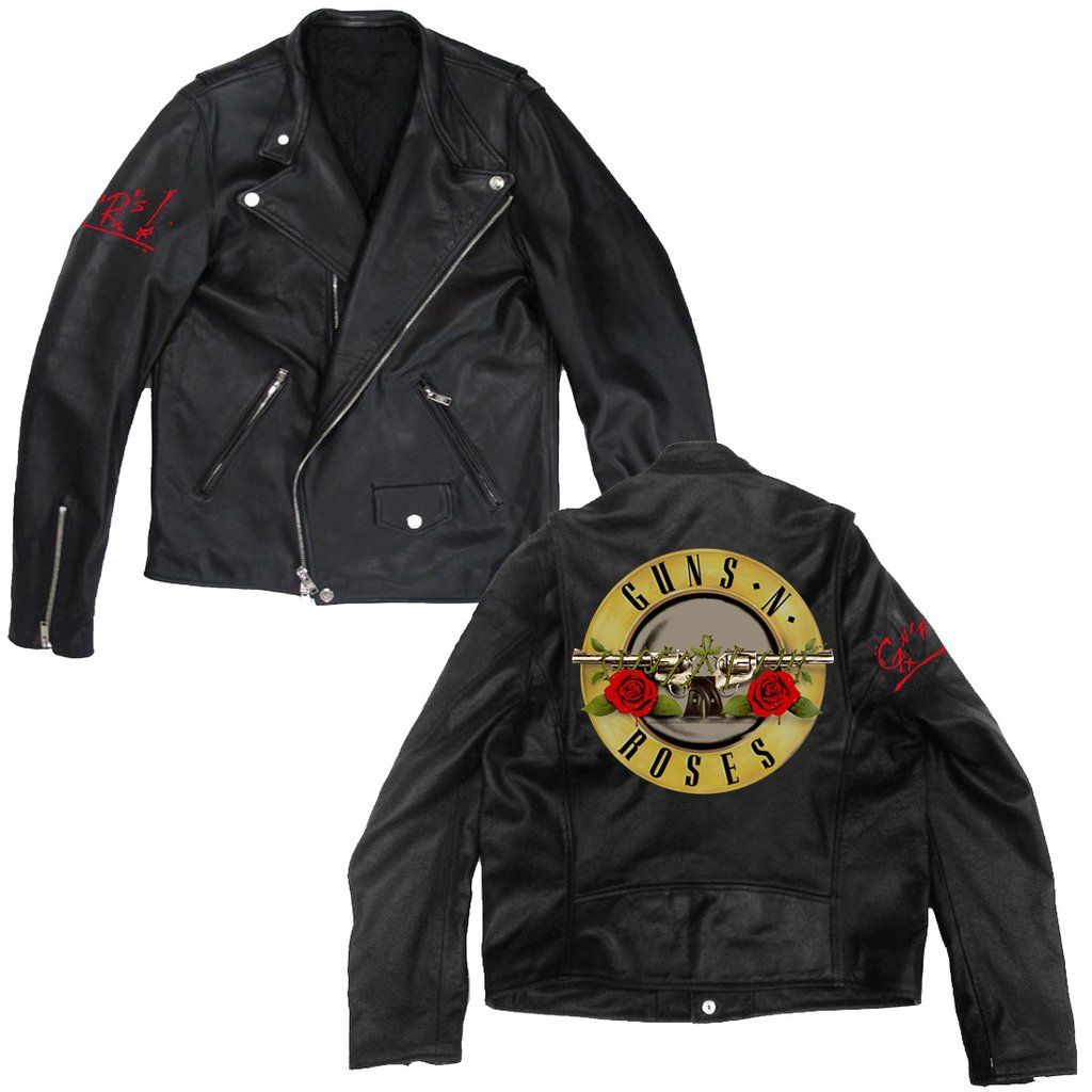 Leather jacket with roses - Guns N Roses Official Store Shop This And More Merch In The Official Store Men S Leather Jacketszip