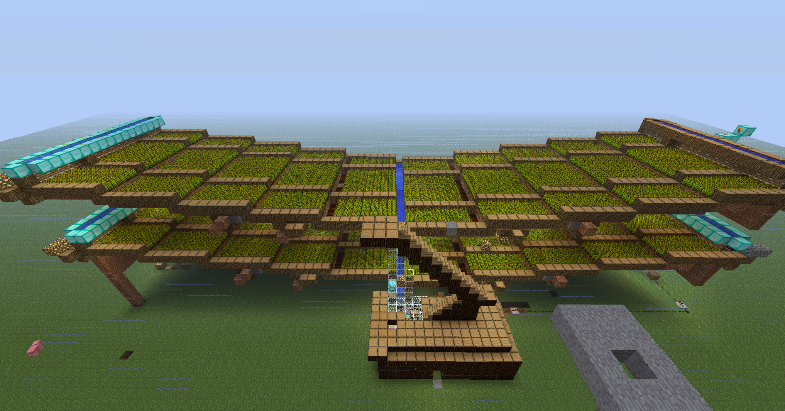 Massive Automatic Minecraft Wheat Farm! - Maps - Mapping and