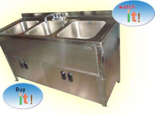 Crown Verity Inc. Crown Verity Portable Hand Sink Cart 3 Compartment  Lockable Access Door. Portable SinkCommercial KitchenKitchen ...