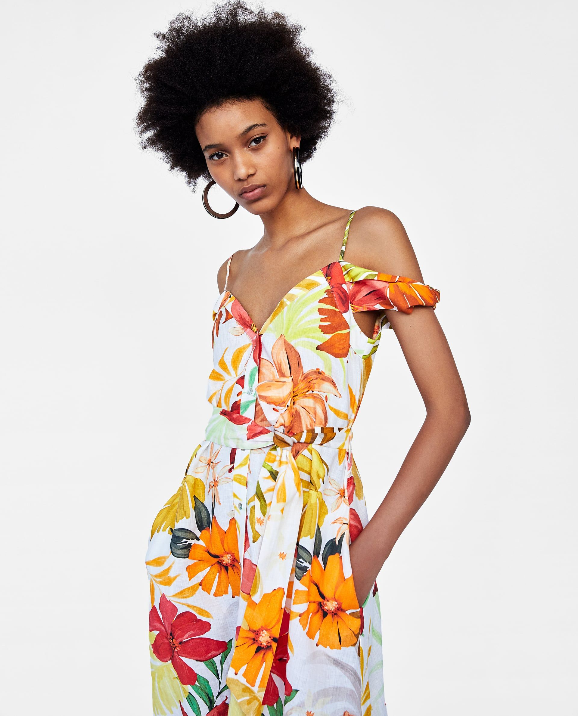 804a692b3a1 Image 5 of FLORAL PRINT LINEN DRESS from Zara
