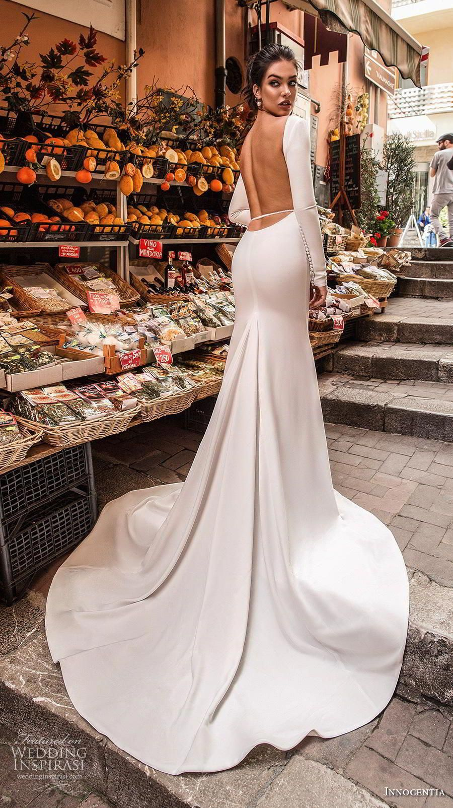 Innocentia 2019 toarmina bridal long sleeves bateau neck