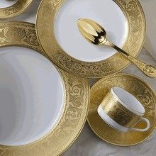 Marvelous Luxury Living   Versailles Gold Place Setting From Robert Haviland U0026 Co. Ideas