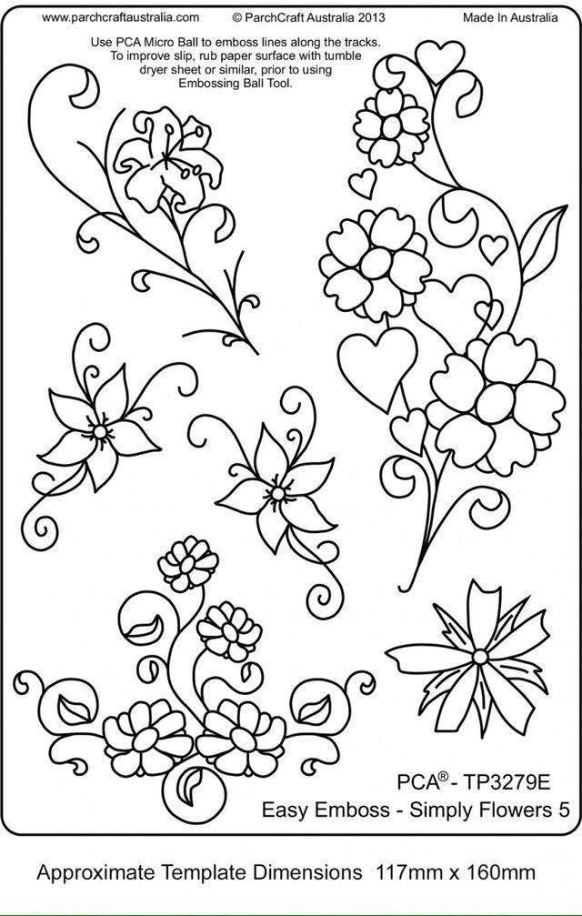 Image result for brush embroidery flower template Broderi