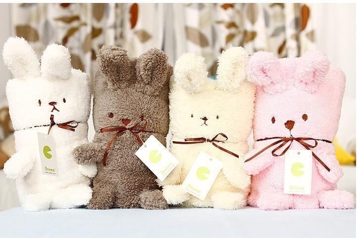 del bebé mantas bebé manta edredón para infant forma conejo cartoon mantas