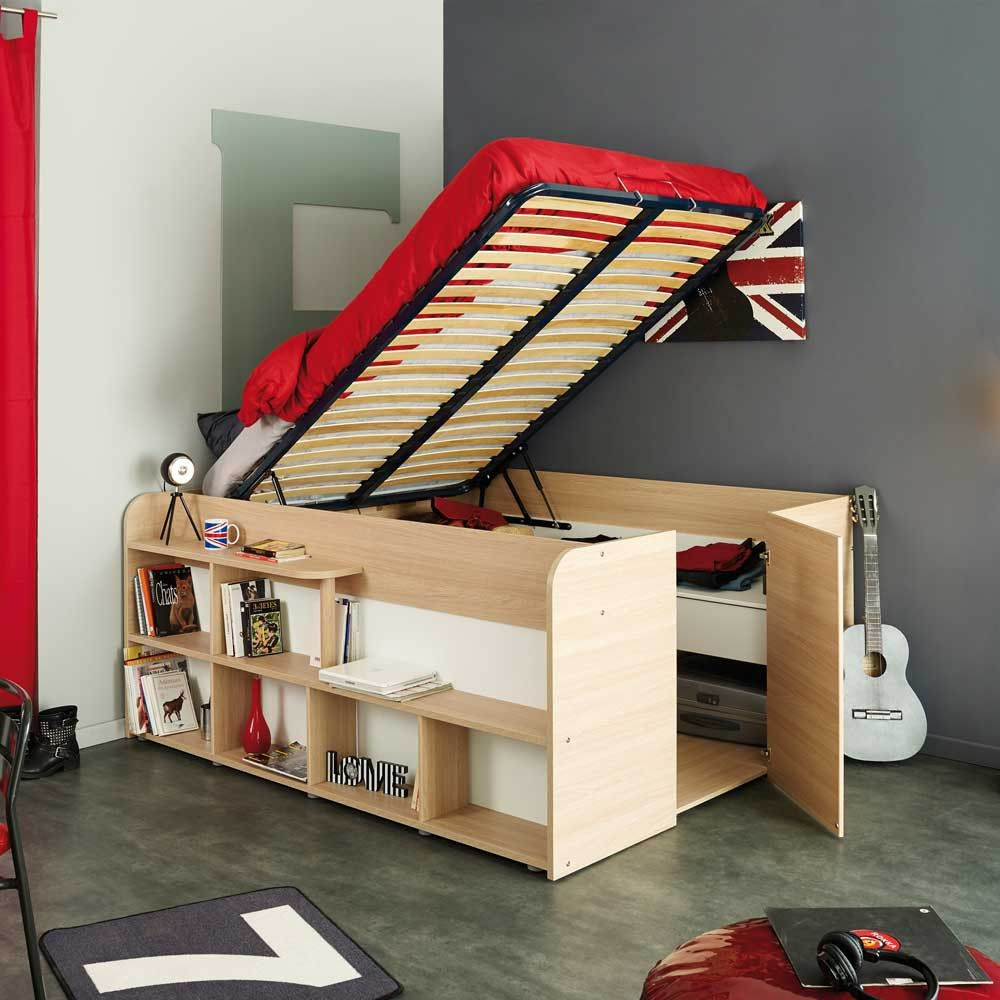 Funktionsbett Kasticia Mit Viel Stauraum Platzsparende Mobel Etagenbett Kinder Bett Jugendzimmer