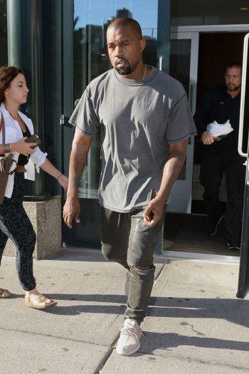 e2a23b2ab90de Celebrities Wearing Yeezy Boost Sneakers  Kanye West