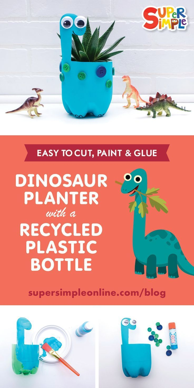 Super Simple Recycled Plastic Bottle Planters - Super Simple