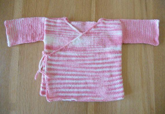 Knitting Pattern Pdf Baby Kimono Jacket Baby Kimono Knitting