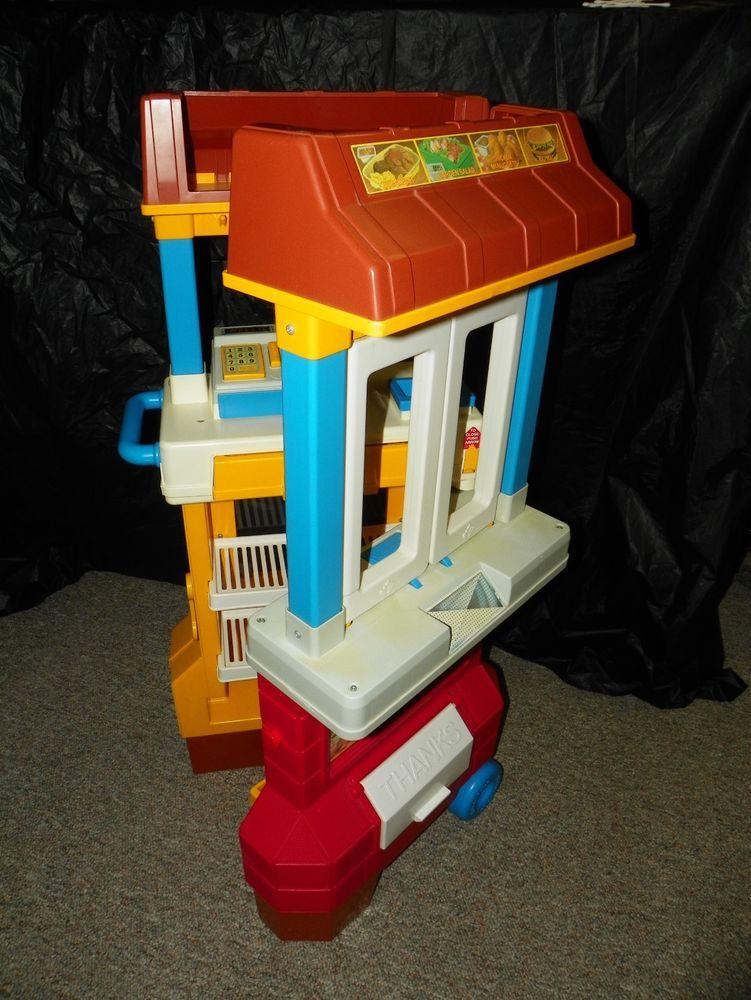 Vintage 1980's Fisher Price McDonalds Drive Thru Play Set