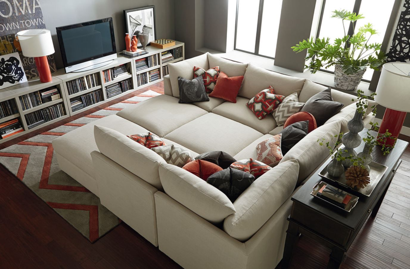 I Like This For A Basement Beckham Pit Sectional By Bassett