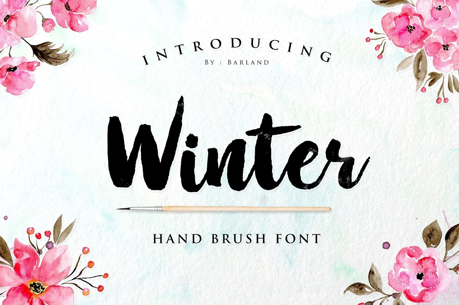 Download Winter Brush Font Free Brush Fonts Free Brush Font
