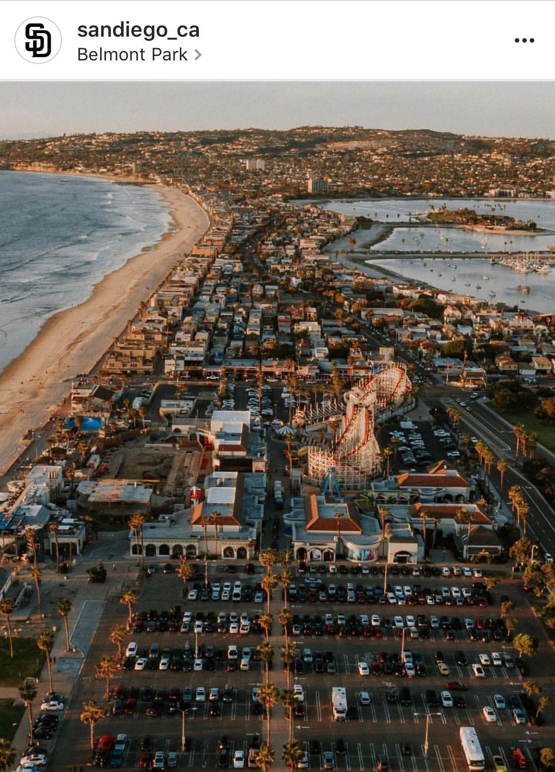 Aerial Pic Of Mission Beach, Ocean Beach, San Diego