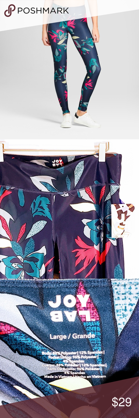 19926b7b362 JoyLab Performance Tropical Print Leggings L Thank you for stopping by JC s  Stop and Shop! My closet is always growing