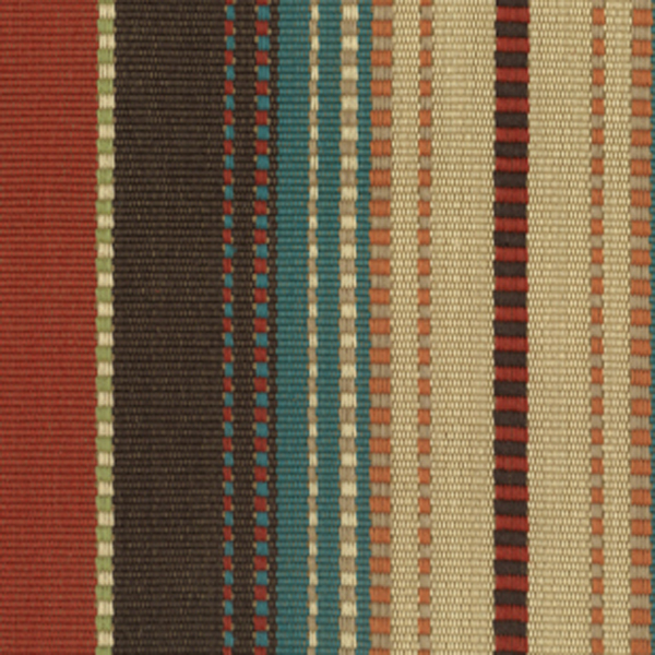 This Is Aztec Colors Of Orange, Brown, Blue And Natural Alternating Strip  Cotton Upholstery Fabric, Suitable For Any Decor In The Home Or Office.