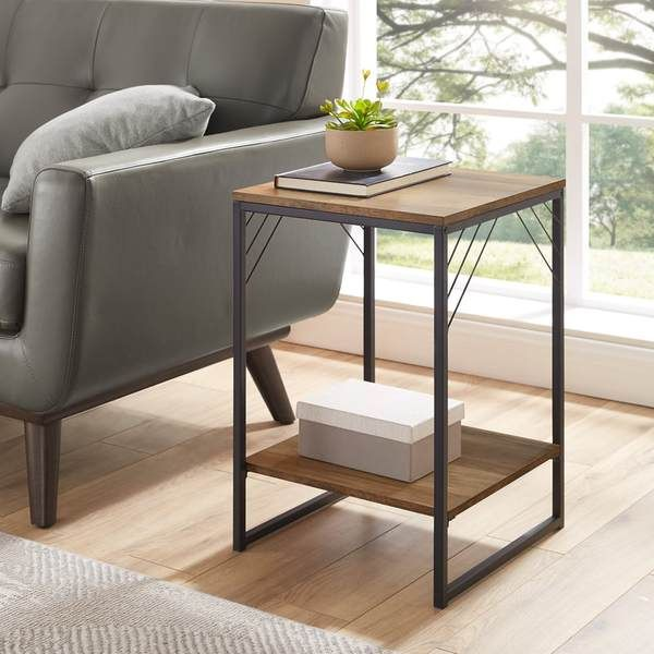 troy side table  table industrial side table living spaces