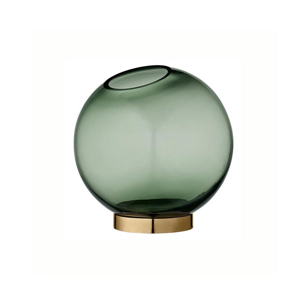 Aytm decorative green globe glass vasebowl brass ring round aytm decorative green globe glass vasebowl brass ring floridaeventfo Images