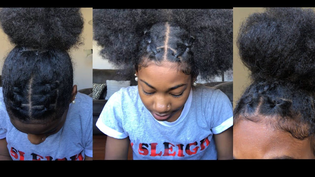 Trendy Rubberband Hairstyles On Natural Hair Youtube