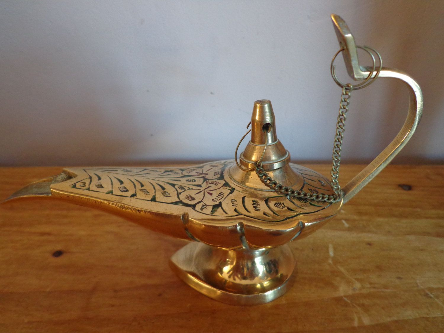 Stunning Brass Indian/Arabic Oil Lamp Filler In The Shape Of A ... for Arabic Oil Lamp  150ifm