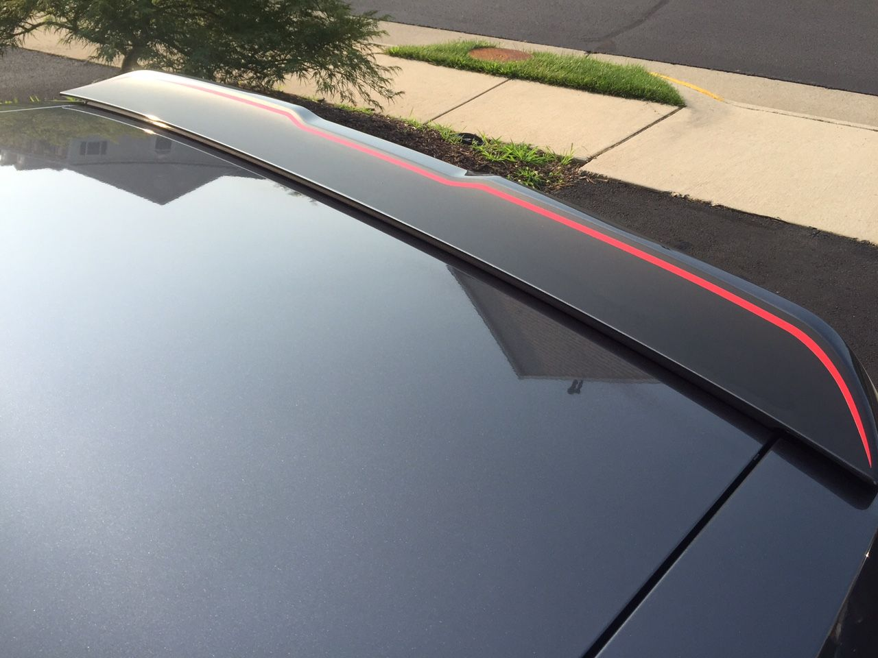 Challenger 2015 rear spoiler surface blackout two color decal