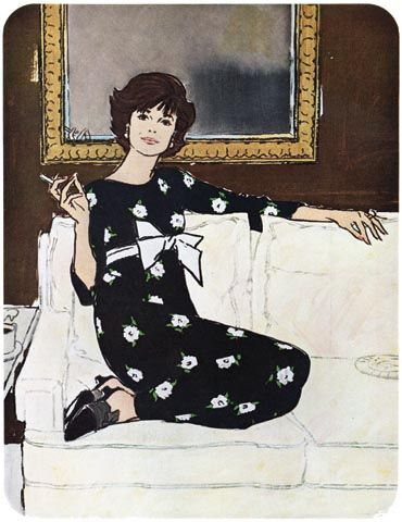 """Illustration by Jack Potter (1927–2003, American) - """"Ladies' Home Journal"""", August 1966"""