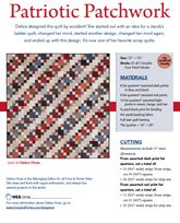 Patriotic Patchwork from Patriotic Quilts Fall 2013. Quilt by Debra Finan.