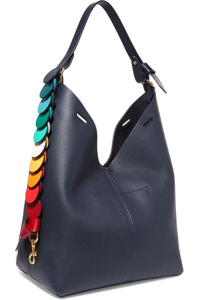 Bucket Small Textured-leather Tote - Black Anya Hindmarch H3smDn0