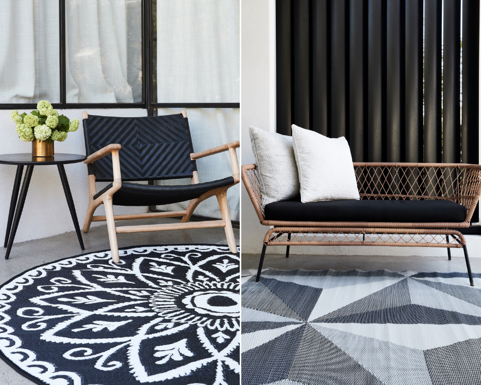 Black White Inspirations From Fab Habitat Fab Habitat Outdoor Plastic Rug Rugs Australia