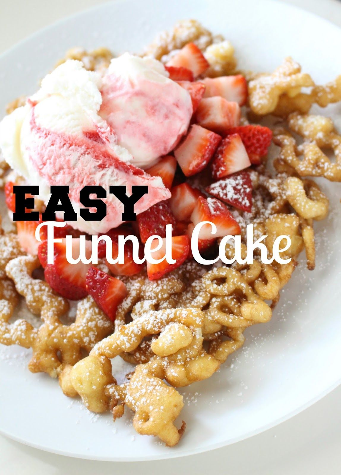 how to make funnel cake easy