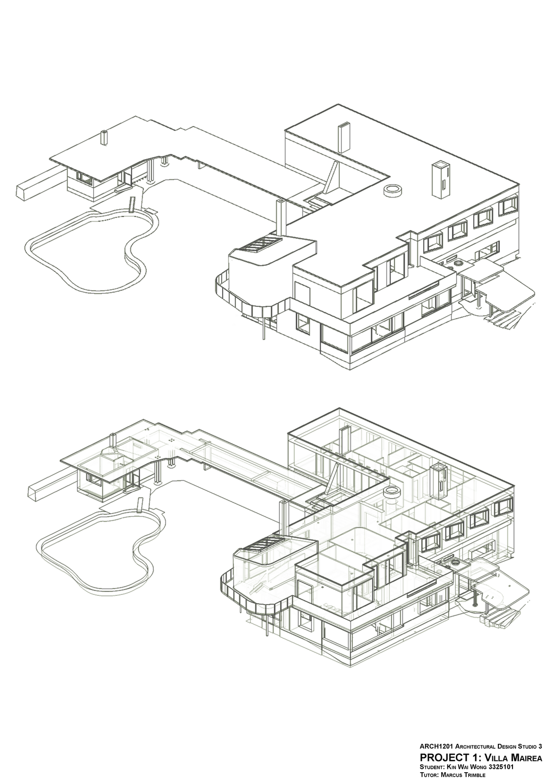 Axo Mairea House Villa Design Alvar Aalto Maquette