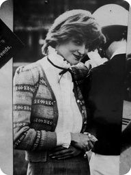 NOT Diana Princess of Wales but a look-a-like used to illustrate the Diana look
