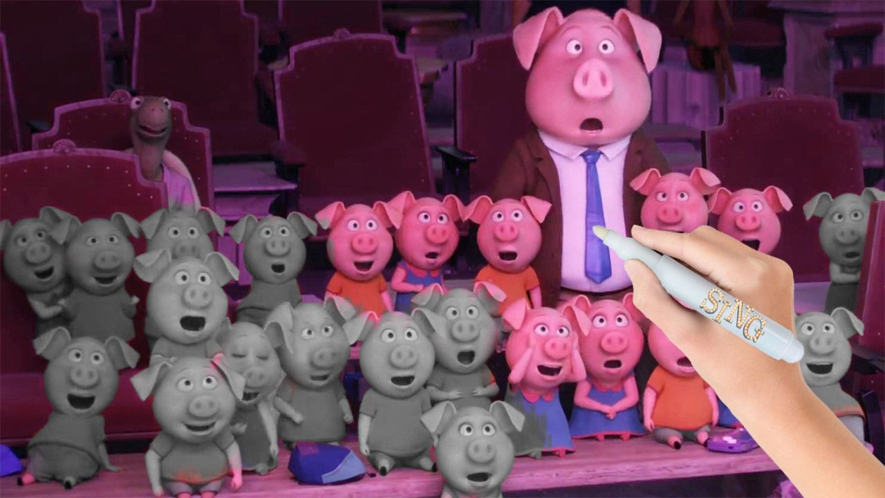 Norman Rosita S Husband And Piglets From Sing 2016