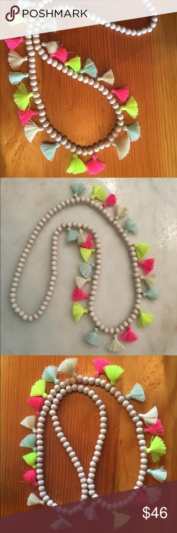 Anthropologie Multicolored tassel necklace Anthropologie Multicolored tassel statement necklace. Great way to spice up and outfit and perfect for the summer time!! Hard to part with this necklace. It's about 14.5 inches in length and 22 tassels overall. Beautiful colors!! Anthropologie Jewelry Necklaces