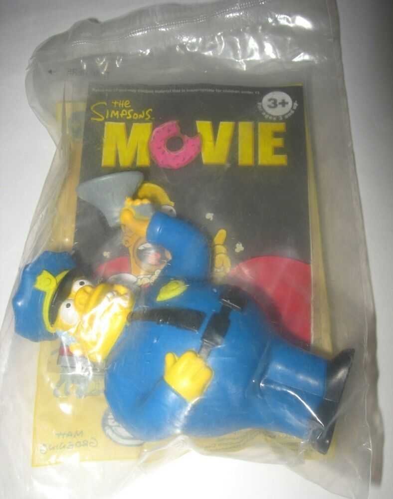 2007 The Simpsons Movie Burger King Kids Meal Toy Chief Wiggum Cake Topper In 2020 The Simpsons Movie Simpsons Toys Chief Wiggum