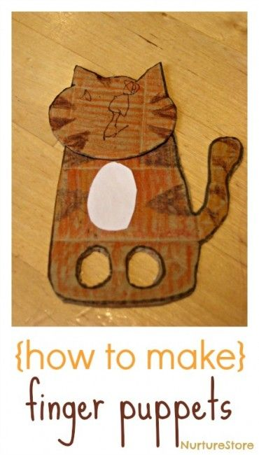 Puppet crafts for toddlers and preschool - how to make finger #puppets