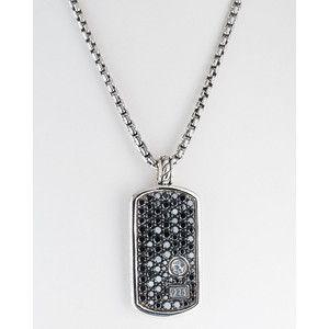 David yurman pave black diamond dog tag necklace jewelry david yurman pave black diamond dog tag necklace mozeypictures Images