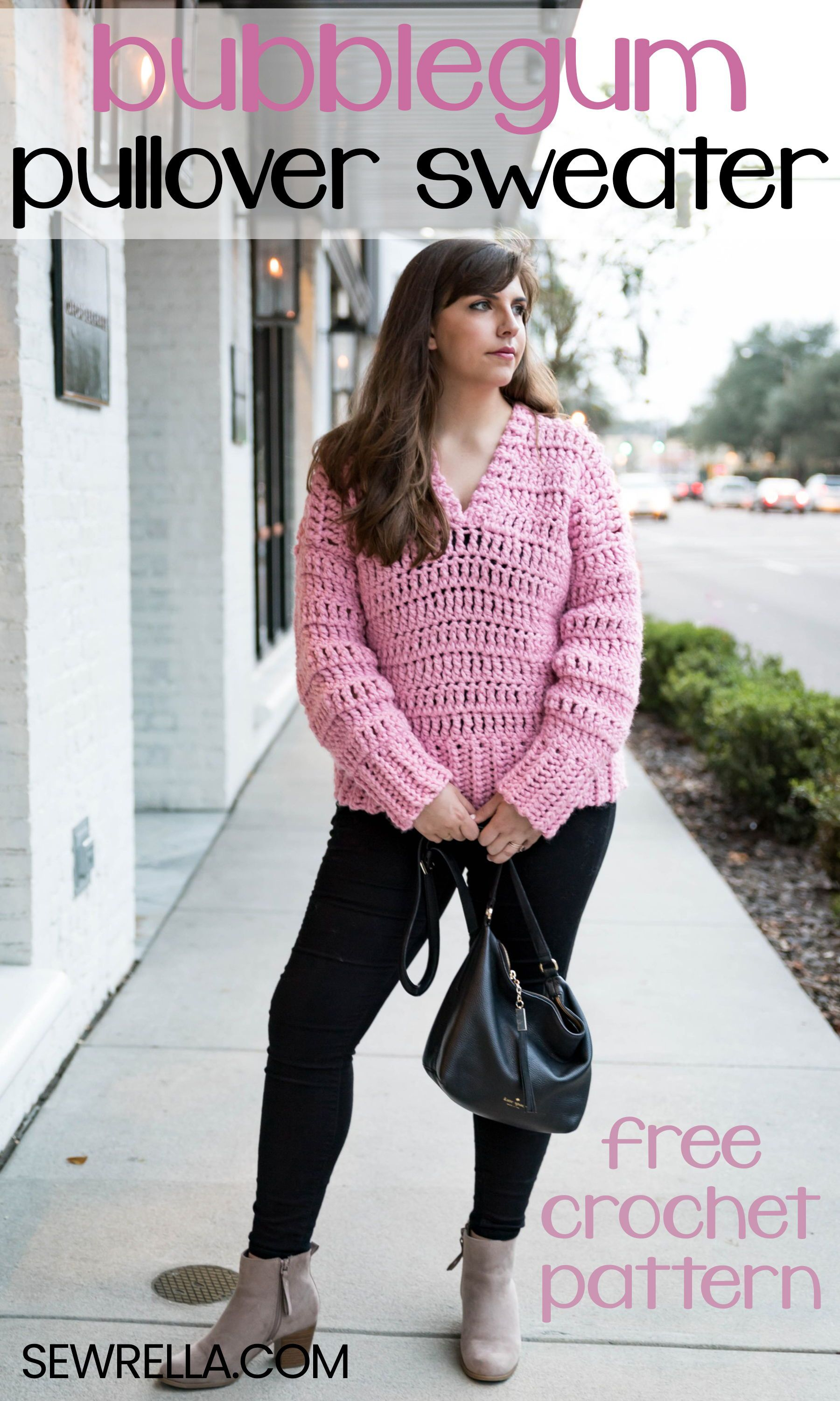 Crochet Bubblegum Pullover Sweater | CrochetHolic - HilariaFina ...