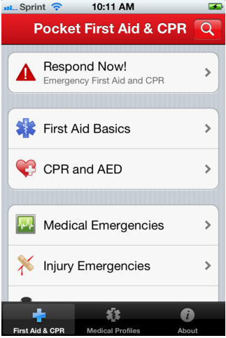 Can an app save lives? App includes up-to-date emergency information, a first aid kit checklist and detailed first aid procedures