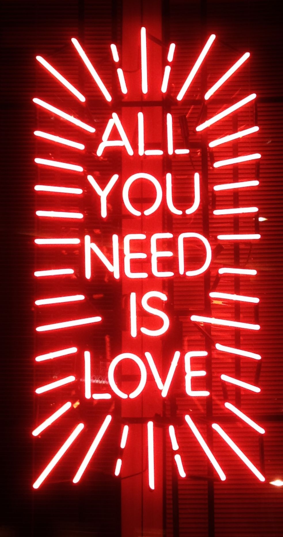 All You Need Is Love Neon Wallpaper Neon Signs Neon Quotes
