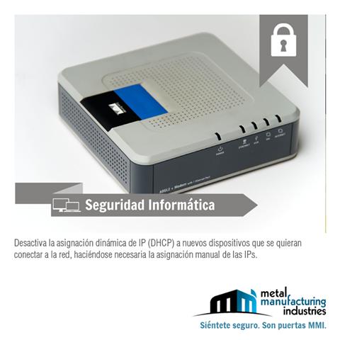 La asignación IP manual permite tener un control sobre la red y saber qué dispositivos son los que están conectados. #SeguridadInformatica