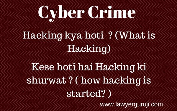 Hacking Kya Hoti What Is Hacking Hacks Cyber Crime