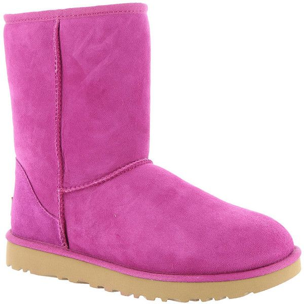 UGG Classic Short II Women's Pink Boot ($160) ❤ liked on Polyvore featuring shoes